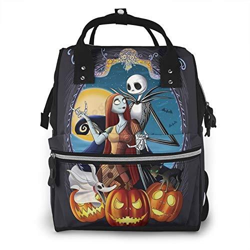 Suguroo Nightmare Before Christmas Diaper Bag Travel Mummy Nappy Bags Multi-Function Nursing Backpack
