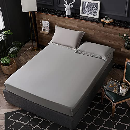 BOLO BOLOMicrofiber flat bed sheets make you feel comfortable-this hypoallergenic bed sheet is very soft and silky,150cmx200cm+30cm