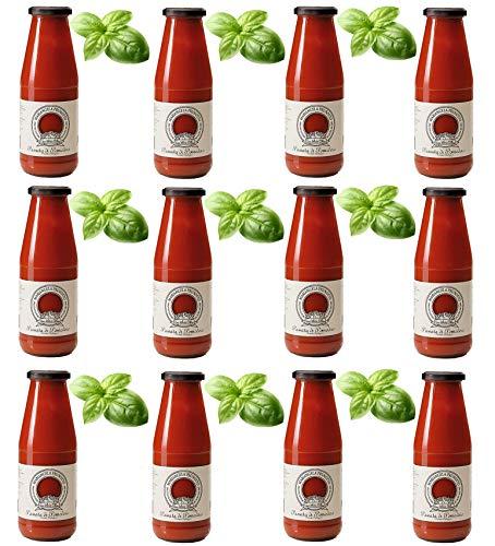 Azienda Agricola Prunotto Mariangela - 12 Bottiglie Passata di Pomodoro con basilico da 690 g (12x690g)
