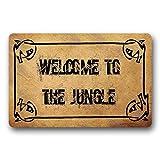 Alfombra para Puerta, Alfombrillas para Exteriores, felpudos Welcome to The Jungle Alfombrilla para Puerta, 40 x 60 cm