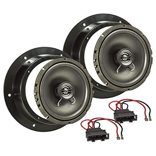tomzz Audio 4057-004 Lautsprecher Einbau-Set Kompatibel mit VW Golf 5 V Passat 3G Touran Caddy Tür vorne 165mm Koaxial System TA16.5-Pro