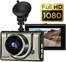 Dash Cam 1080P FHD 3 Inch IPS Screen Metal Shell Dash Camera for Cars,Car DVR Dashboard Recorder Super Night Vision,170°Wide Angle,WDR,G-Sensor,Loop Recording,Motion Detection,Parking Monitor