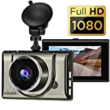 Dash Cam 1080P FHD 3 Inch IPS Screen Metal Shell Dash Camera for Cars,Car DVR...