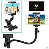 CamKix Support de téléphone/Appareil Photo avec col de Cygne Flexible et Pince Forte - pour la Photographie Mobile, l'enregistrement/l'observation de vidéos, Navigation GPS - Support pour trépied