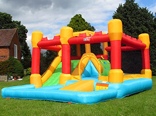 BeBoP Fortress Bouncy Castle and Slide For Kids with Blower Fan