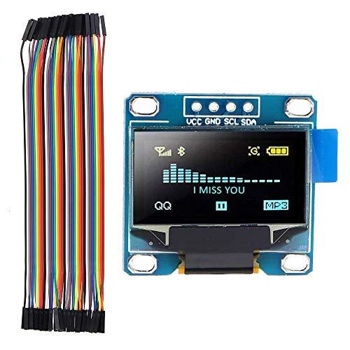 OperationCwrl 0.96 Inch OLED I2c IIC LCD Screen Module + F-F Dupont Line 12864 128x64 Display Module for Raspberry Pi 3 2 B+ Arduino