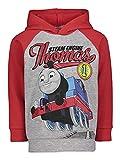 Thomas & Friends Tank Engine Toddler Boys Fleece Pullover Hoodie Raglan Red 3T