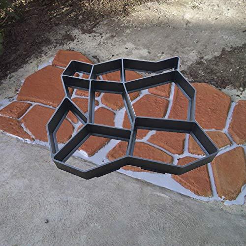 Plastic Path Maker Mould Concrete Molds DIY Path Maker Cement Concrete Mold Walk Stepping Stone Paver Patio Path Walk Maker for Garden Walkway Pavement