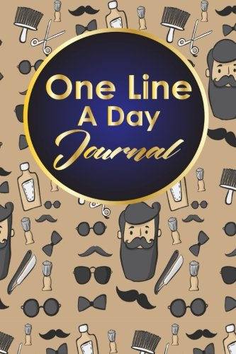 One Line A Day Journal: 5 Year Daily Journal, Five Year Journal, 5 Year Memory Book, One Line A Day Diary, Cute Barbershop Cover: Volume 85
