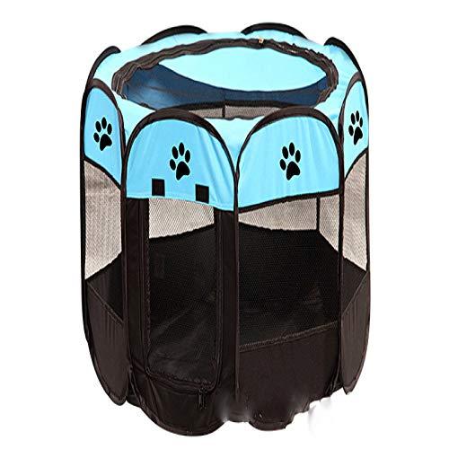 SYXLNNYYZM Faltbares Haustierhaus Tragbare Zwinger im Freien Zäune Haustierzelthäuser für kleine große Hunde Faltbarer Laufstall Indoor Welpenkäfig Hundekiste Kreißsaal