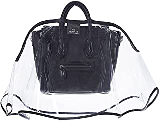 Women's Large City Slicker Handbag Raincoat, Clear/Black, One Size