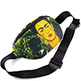 ShubaGiftFactory Chest Bag Bum Purse Packs,Sport Pouch Waist Pocket, Fan Gifts, Adjustable Belt Bag, Famous Art Canvas, for Travellers (Frida)
