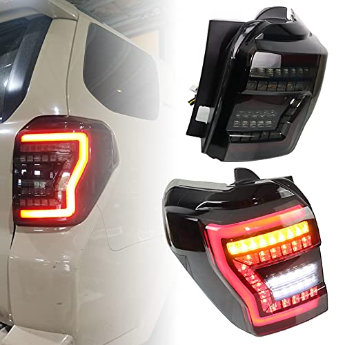 PGTOPONE Smoked Lens Rear Tail Light Sequential Flash Singal Brake Reverse Lights Replacement With...