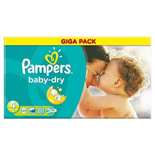 Pampers Baby Dry Größe 4 Maxi 7-18kg Giga Pack, 3er Pack (3 x 120 Windeln)