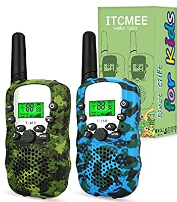 ITCMEE Walkie Talkies for Kids Upgraded Camouflage 22 Channels 2 Way Radio with Backlit LCD Flashlight Walky Talky Toys Gift for Festival Birthday Camping Hiking by ITCMEE