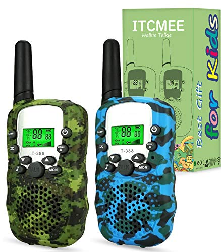 ITCMEE Walkie Talkies for Kids Upgraded Camouflage 22 Channels 2 Way Radio...