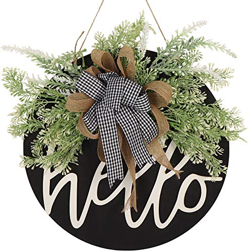 Welcome Sign for Front Door Wreaths for Front Door Decor Farmhouse Porch Decor Hanging Sign for Front Porch Wreaths for Front Door Sign Christmas Outdoor Decorations Gift Ideas Thanksgiving Gifts (A)
