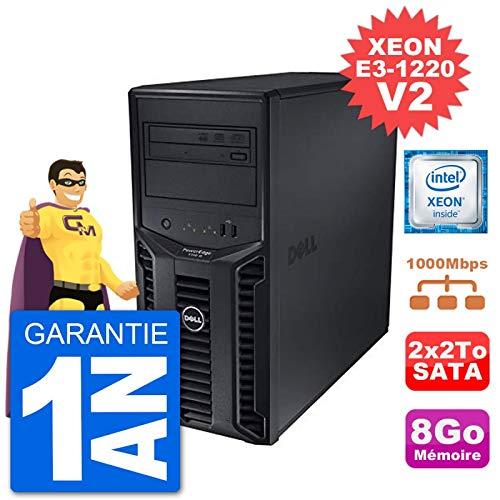 Dell Server PowerEdge T110 II Xeon Quadcore E3-1220 V2 8Go 2x2To Perc H200 SATA (Generalüberholt)