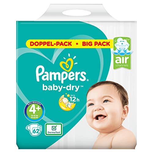 Pampers Baby-Dry Größe4+, 62Windeln