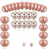 Konsait 56 Piezas Globos de Confeti de Oro Rosa Globo de Fiesta Helio Globos de látex para Bodas, Fiestas, Baby Shower, Navidad, Reuniones, Ceremonia y Cumpleaños Decoraciones de Fiesta