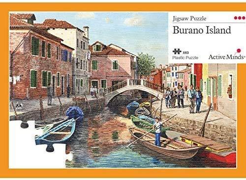 Active Minds 63 Piece Burano Island Jigsaw Puzzle | Specialist Alzheimer's / Dementia Activities & Games