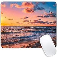 Beach at Dusk マウスパッド 長方形 パーソナライズデザイン プレミアムテクスチャマウスパッド 防水ノンスリップゴムベース カスタムマウスパッド ノートパソコン PC ゲームオフィスに最適 自然な風景マウスパッド