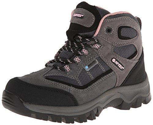 Hi-Tec Kids Unisex Hillside Waterproof Jr hiking Boot (Toddler/Little Kid/Big Kid), Charcoal/Blush, 5 M Big Kid