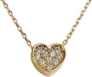 LuckyLy – Collar Corazón Melody – Collares Mujer Oro o Plata – Cadena Baño de Oro 14k o Plata – Dije de Corazón con Zirconia Cúbica - Regalo para Mujer, Regalo para Novia
