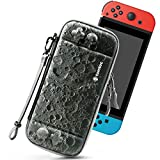 tomtoc Carry Case for Nintendo Switch, Ultra Slim Hard Shell with 10 Game Cartridges, Military Protective Carrying Case for Travel with Original Patent, Luna, Moon Theme Limited Edition