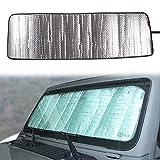 Front Windshield Sunshade Sun Shade Compatible with 2018 2019 2020 2021 Jeep Wrangler Sahara Rubicon JL JLU 2 Door & 4 Door & Gladiator JT Heat Shield Windshield Custom-fit Sun Visor Mat