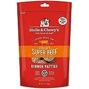 Stella & Chewy's Freeze-Dried Raw Stella's Super Beef Dinner Patties Grain-Free Dog Food, 5.5 oz bag