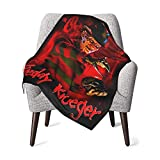 Super Soft and Warm Nightmare On Elm Street Freddy Krueger Blankets Flannel Baby Blankets Ultra Luxurious Cozy for Couch, Bed, Sofa 30''×40''
