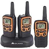 Midland - X-TALKER T51VP3, 22 Channel FRS Two-Way Radio - Extended Range, 38 Privacy Codes, NOAA Weather Alert (3 Pack) (Black/Orange)