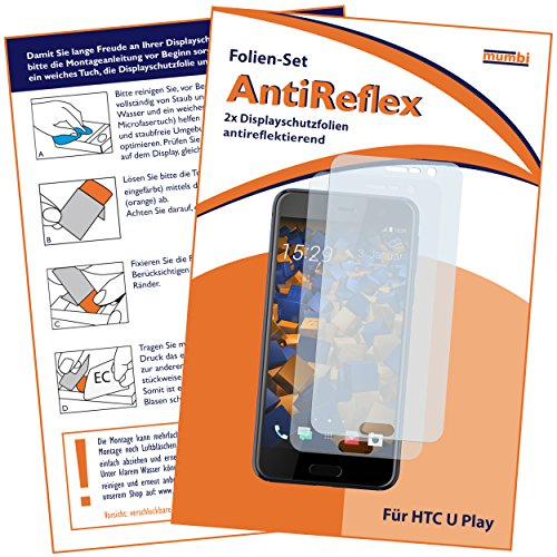 mumbi Schutzfolie kompatibel mit HTC U Play Folie matt, Bildschirmschutzfolie (2X)