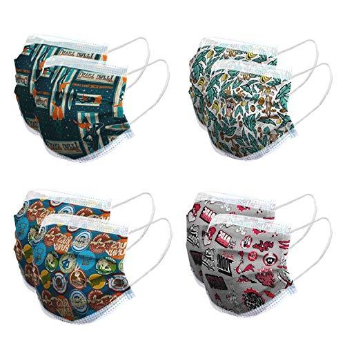 Pack de 8 Mascarillas Higiénicas Reutilizables Warner Bros con Licencia Oficial - 10 lavados - Fabricadas en España, Looney Toons, Talla única de Adulto (+12 años)