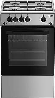 Beko 4 Burner Full Gas Cooking Range, Silver, 50 x 50 cm, CSG 42010 GS