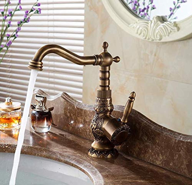 Cxmm Waschtischarmaturen Antik Messing Bad Wasserhahn Grifo Lavabo Armatur Drehen Einhebelmischer Warm- und Kaltwasser
