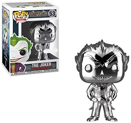 Funko POP! Heroes: DC Comics Batman Arkham Asylum - The Joker (Silver Chrome) (NYCC Debut)