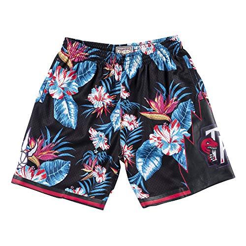 Mitchell & Ness Floral Swingman - Pantaloncini T. Raptors, motivo floreale multicolore XXL