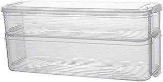 ZYCSKTL Boîte de Rangement en Plastique Multicouche Boîte de Rangement pour réfrigérateur de Cuisine Boîte de Rangement Tr...