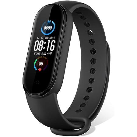 """Xiaomi Mi Band 5 Activity Tracker Smartwatch Versione Internazionale Fitness Bracelet Smart Watch 1,1""""Schermo AMOLED a Colori, Bluetooth 5,0 Cardiofrequenzimetro da Polso/Fare le Foto/Musica- Nero"""