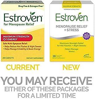 Estroven Maximum Strength + Energy - One Per Day Formula - 2 Boxes, 60 Caplets Each