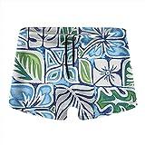 XCNGG Patrón de Hojas Fondo Azul Calzoncillos Tipo bóxer de Secado rápido para Hombres Traje de baño Pantalones Cortos Troncos Traje de baño-S