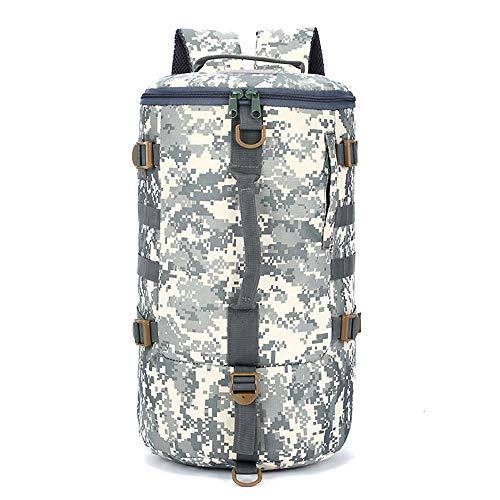 YanYun Camouflage Bucket Bag Backpack Waterproof Oxford Handbag Camping Hiking Bucket Bag Travel Outdoor Sports Backpack