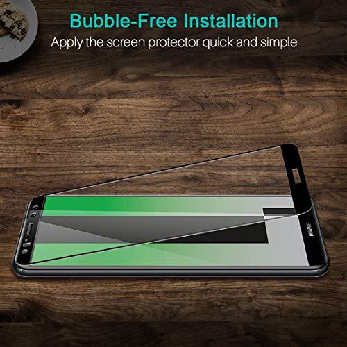 LK Panzerglas Schutzfolie für Huawei Mate 10 Lite, 2 Stück, 9H Härte Panzerglasfolie, HD Klar Displayschutzfolie, [Anti-Kratzen] [Blasenfrei] [2.5D Rand] [Einfacher Montage] - 5