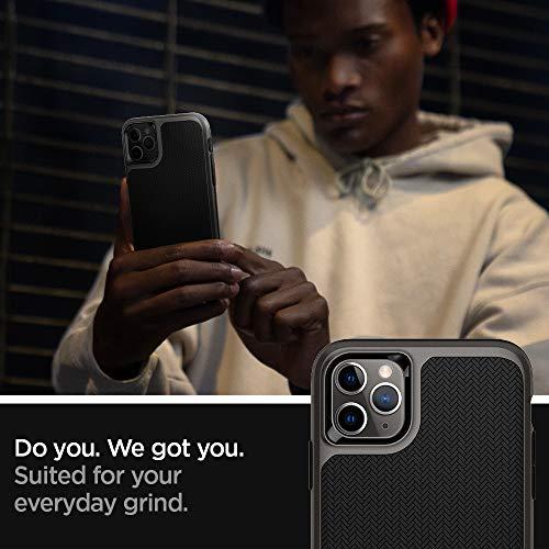【Spigen】iPhone11ProMaxケース6.5インチ対応バンパー二重構造米軍MIL規格取得耐衝撃カメラ保護Qi充電ワイヤレス充電ネオ・ハイブリッド075CS27145(ガンメタル)