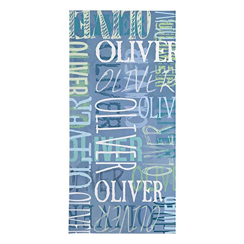 Let's Make Memories Personalized Beach Towel - Custom Microfiber Pool Towel - Blue - Personalize with Your Name - 30' x 60'