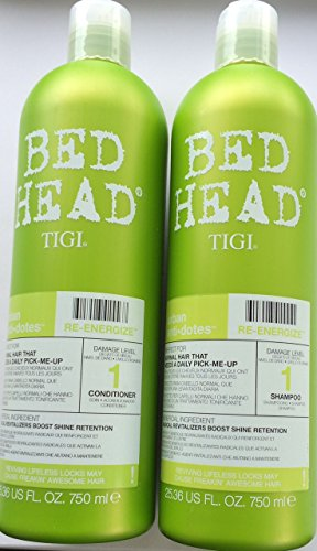Tigi Bed Head Urban Antidotes Re-Energize Shampoo & Conditioner Tweens 750 ml mit gratis Pumpen