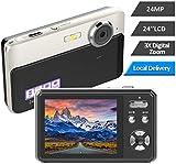 Digitalkamera 24MP Kamera 2,4-Zoll-TFT 3X Digitalzoom-Fotoapparat Videokamera Vlogging Kamera Kompakte und Tragbare Selfie-Kamera Mehrere Filter