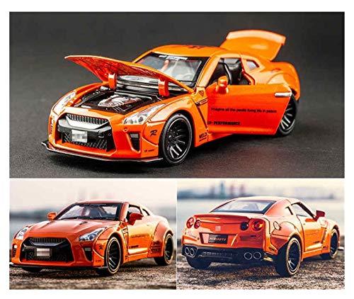 OutdoorKing Modelo Coche Aleación 1:32 para Nissan para GTR Race Alloy Car Modelo Diecasts & T-oy Vehicles T-oy Cars Juguetes para Niños para Niños Regalos Chico Juguete Coche Juguete para Niños